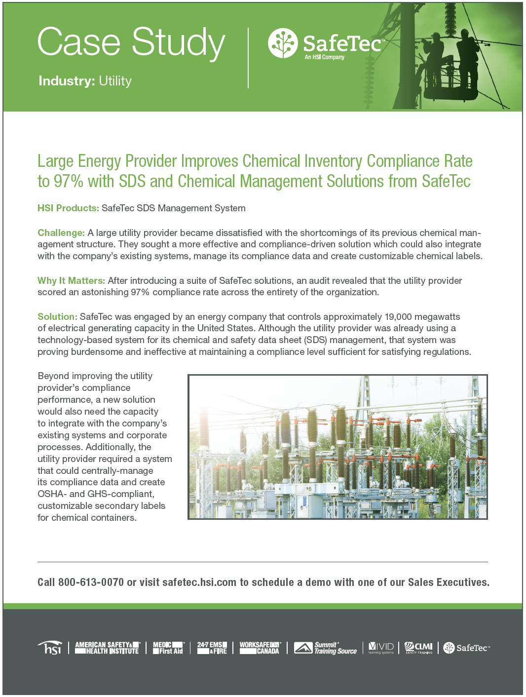 Large Utilities Provider SDS Management Case Study