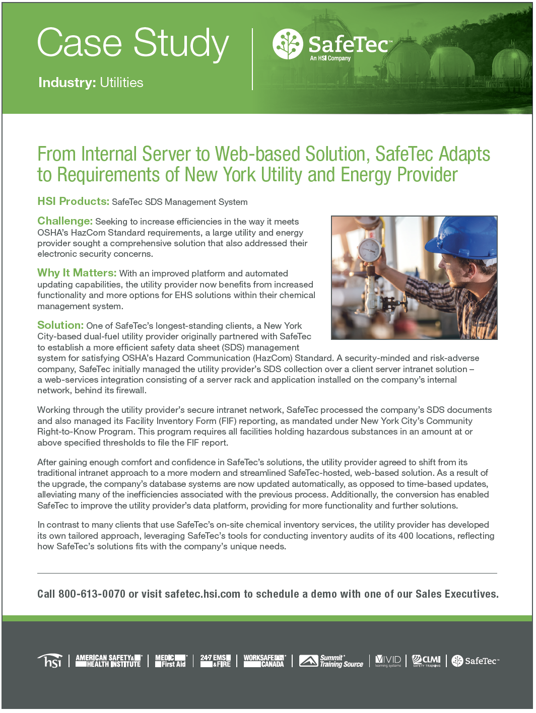 New York Utilities Provider SDS Management Case Study