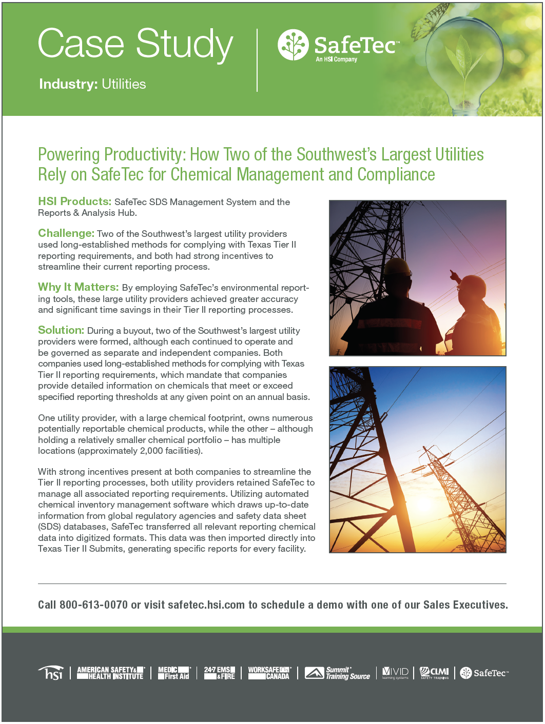 Southwest Utilities Provider SDS Management Case Study