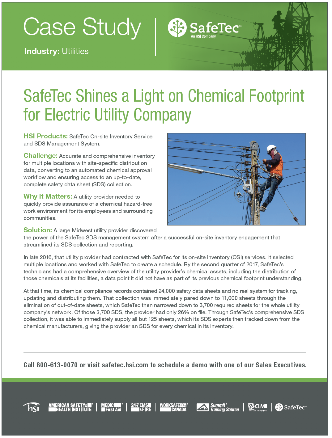 Regional Utilities Provider SDS Management Case Study